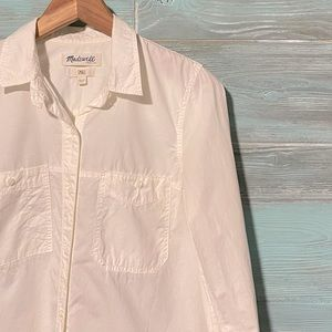 Madewell Washed Cotton Boyshirt in Natural